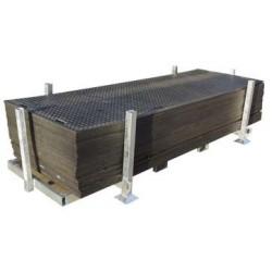 Opslagbox voor kunststof rijplaten 3x1m