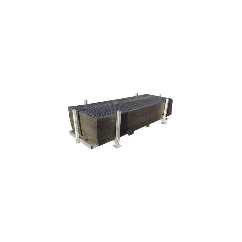 Opslagbox voor kunstof rijplaten 3x1m
