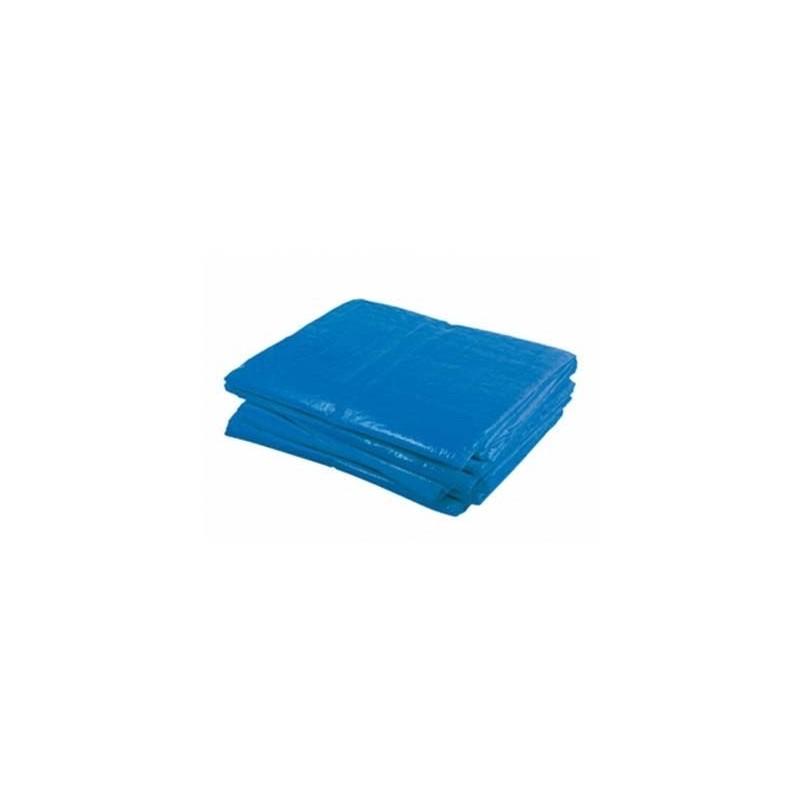 Dekzeil Blauw 130gr. 6x8m